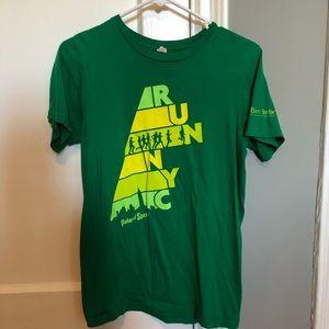Anvil Women's Green Short Sleeve Cotton T-Shirt